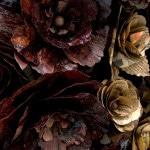 Untitled (Hearts and bones), 2008, mdf, lard, newspaper, blood, tea, coffee, (each) 225 x 90 x 90cm