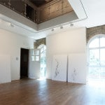 Untitled (Somewhere Nowhere), 2011, plaster, hessian, lace, coffee, cigarette ash, (each) 150 x 100 x 3cm