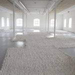 Untitled (Landscape) 2014, plaster, canvas, dye, dimensions variable