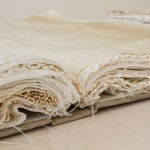 a recollection, 2014, portrait linen, bookboard, antique linens, (each) 37 x 27 x 6cm